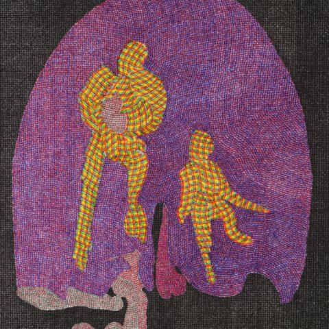 Das Paar, 2019, Mikropigmenttusche auf Archespapier, 36 cm x 26 cm