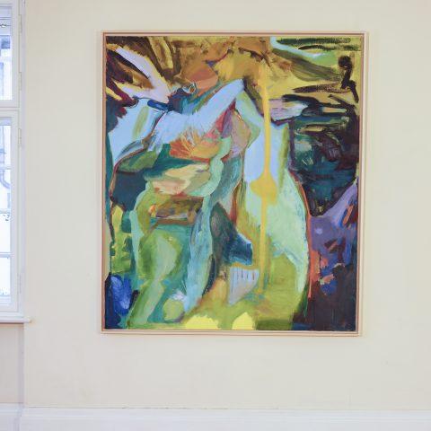 Der Schnitt, Öl auf Leinwand, 185 x 160 cm, 2020
