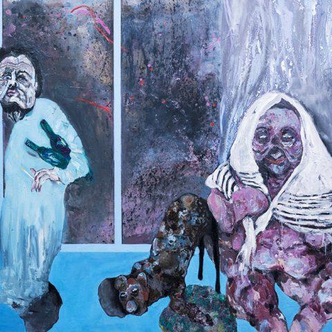 Ohne Titel, 2018, Öl auf Leinwand, 240 cm x 155 cm
