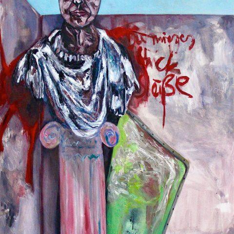 Ohne Titel, 2019, Öl auf Leinwand, 90 cm x 150 cm