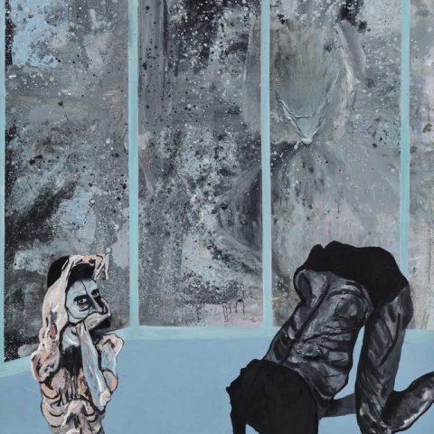 Strange colour blue, 2016, Öl auf Leinwand, 155 cm x 190 cm