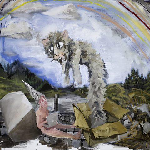 I admire your enthusiasm, 2020, Öl und Acryl auf Leinwand, 130 cm x 150 cm