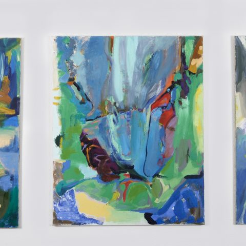 Triptychon, Öl auf Leinwand je 125 x 100 cm, 2020