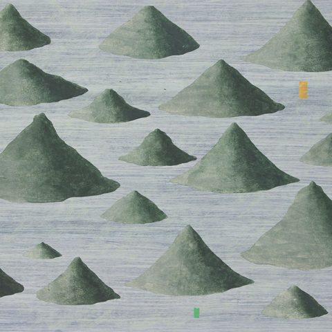 Walter_Yu-Serie_Berge-3-24x34cm-2020-Collage_Acryl_Aquarell-Papier
